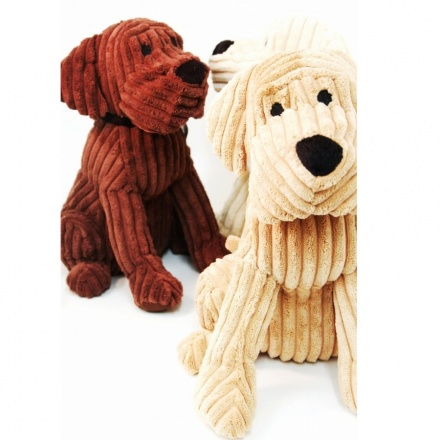 Shabby chic ribbed dog door stops 28cm. 3 Assorted colours