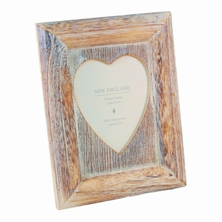 Heart Frame Lime Wash 4in x 6in