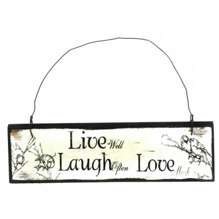 Live Laugh Love Wooden Vintage Sign