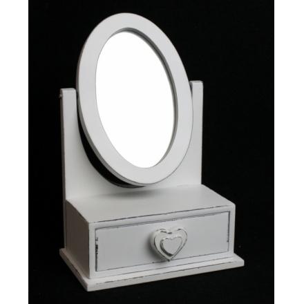 Double Heart Jewel Box With Mirror
