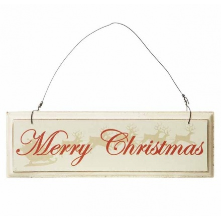 Small Hanging Merry Christmas Sign 20cm
