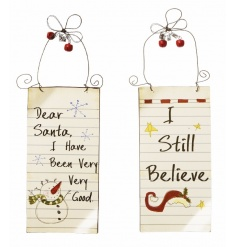 Dear Santa, I Have Been Very Very Good and I Still Believe. Xmas santa signs 18cm
