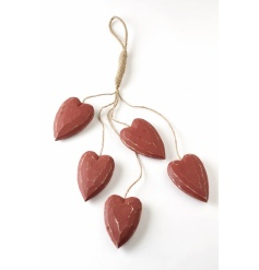 Decorative red hearts to bring love to any room!