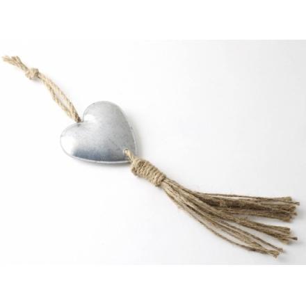 Hanging Tin Heart