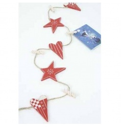 A very festive way to display cards, stockings, photos, decorations...