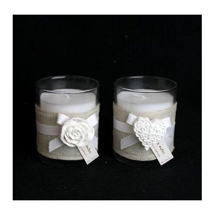 Candle Pot and Ceramic Motif 6cm 2a