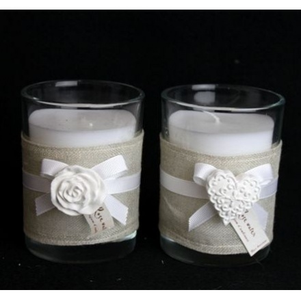 Candle Pot and Ceramic Motif 10cm 2a