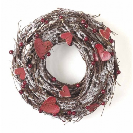 Wreath With Red Hearts