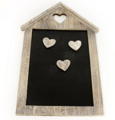 A cute and homely magnetic blackboard for messages and memos; ideal for a country style kitchen