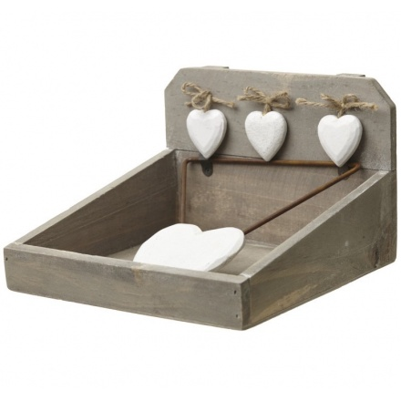 Heart Wooden Napkin Holder