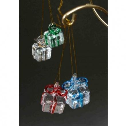 Small Coloured Ribbon Glass Presents Mix