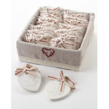 Cranberry Scented Hearts In Counter Box (24)