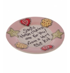 "Cookie plate for Santa ""Santa these cookies are for you! From a very nice kid"""