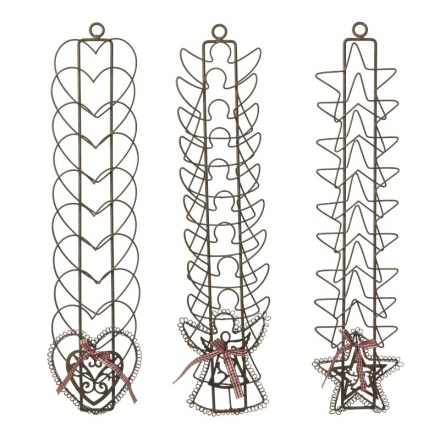 Metal Heart Star and Angel Card Holder