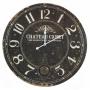 Dark Shabby distressed wall clock