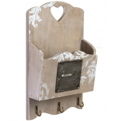 Wall hanging wooden unit with hooks to hang your keys from