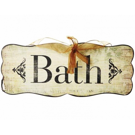 Bath Wooden Sign