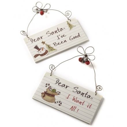 Small Dear Santa Signs, 2a