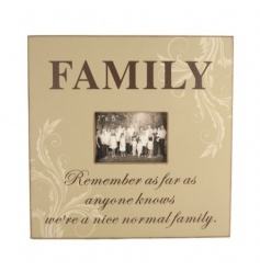 Wall hanging wooden photo frame