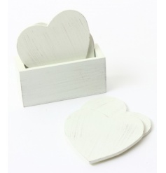 These cute heart coasters will look great in any home. Complete with holder.