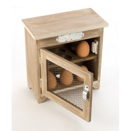 Wooden Egg Cupboard With Mesh Door