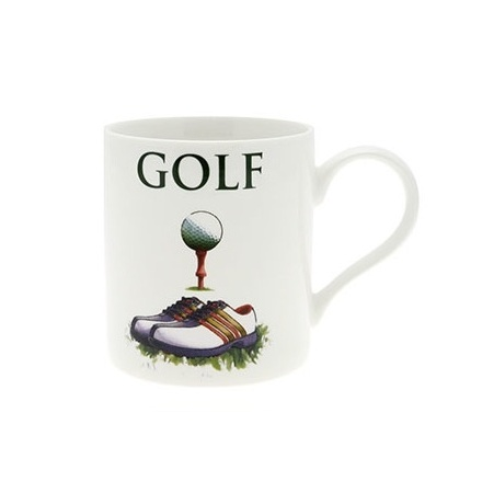 Golf Fine China Oxford Mug Boxed