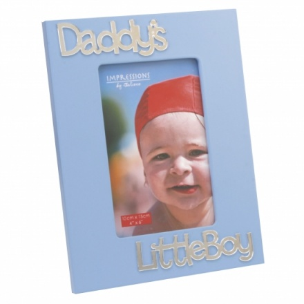 Impressions Frame 3D Letters - Daddys Little Boy  6 x 4in