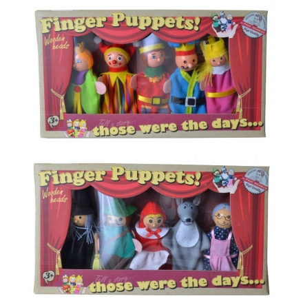 Retro Finger Puppets (5) Set