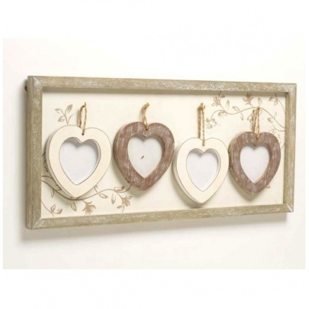 Photo Frame With Wooden Hearts