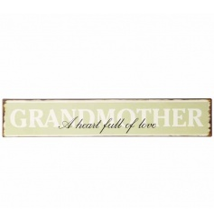 Vintage Grandmother a heart full of love sign
