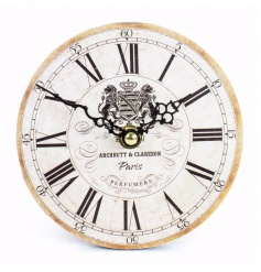 Shabby and chic cream clock with roman numerals