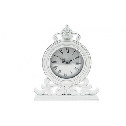 White Shabbie Chique Clock 34cm