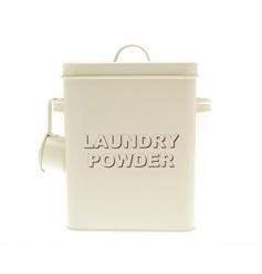 Cream tin kitchenware range by Leonardo, gift boxed tin laundry powder