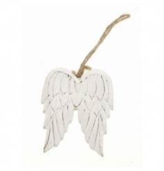 Wooden angel wings with twine to hang from by Heaven Sends