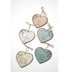 Hanging heart mix in an assortment of 4