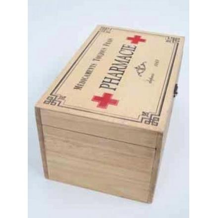 Vintage Style Wooden Pharmacie Box
