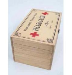 Wooden vintage pharmacie box