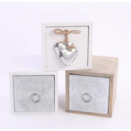 Assorted Single Storage Box Wooden Mix