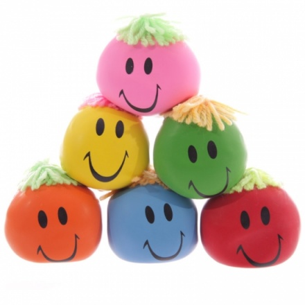 6 assorted squeezable toys
