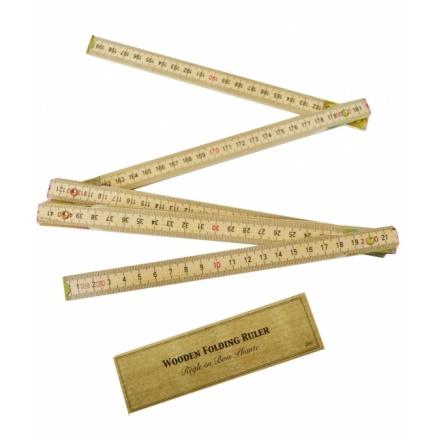 Vintage folding 2m wooden ruler