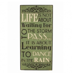 Life is not about waiting for the storm to pass...