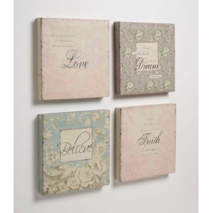 Love Dream Faith Believe Fabric Picture