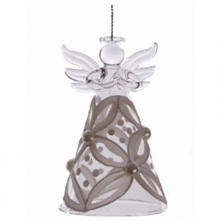 Glass Angels with Flower & Pearl Skirt