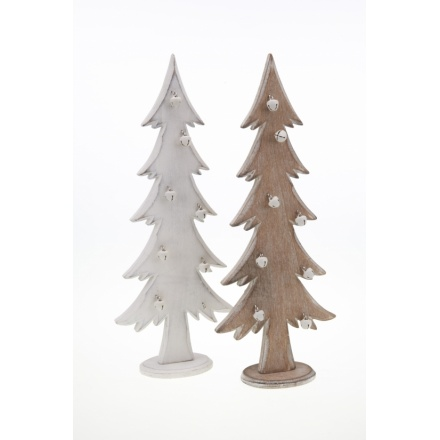 Wooden Xmas Trees with Bells