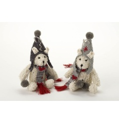Two cute nordic style hanging bear decorations.