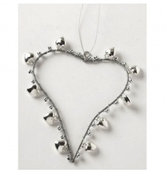Metal heart Christmas decoration