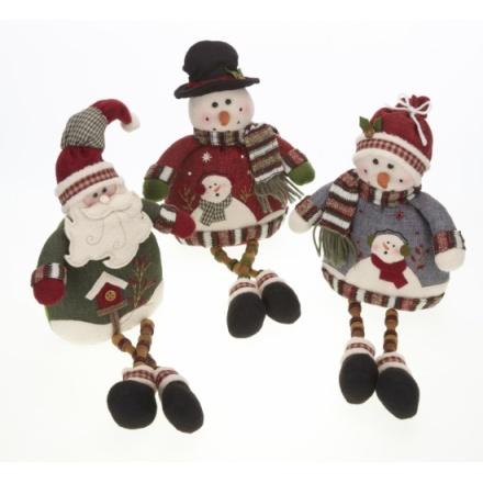Santa Snowman with Button legs 3a