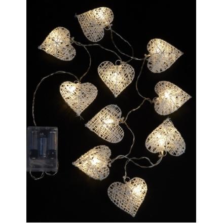 Wire Heart Light Up Garlands
