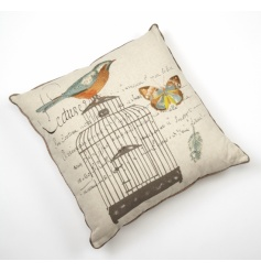 Shabby and chic birdcage cushion