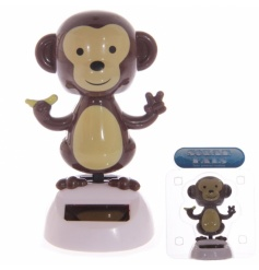 Solar powered dancing monkey flip flap